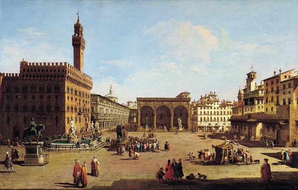 Площадь Синьории в старые времена