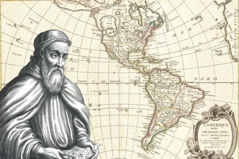 Южная и северная Америки на карте