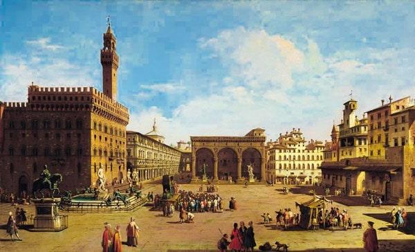Площадь перед дворцом в старые времена