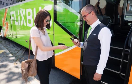 Посадка на автобус FlixBus