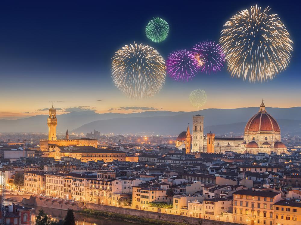 Празднование нового года во Флоренции